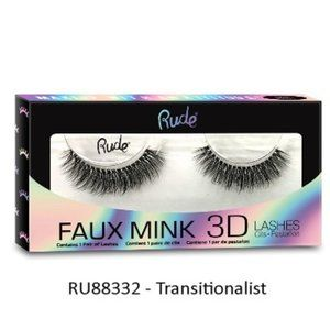 Rude Brand Faux Mink 3D Lashes in Transitionalist